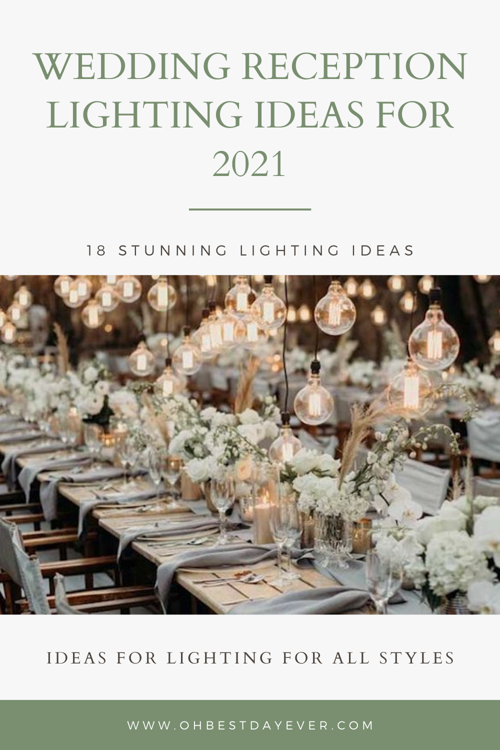 18 STUNNING WEDDING RECEPTION LIGHTING IDEAS FOR 2021 TRENDS