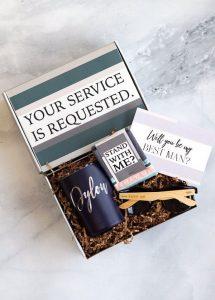 Groomsman or Best Man Proposal Gift Box