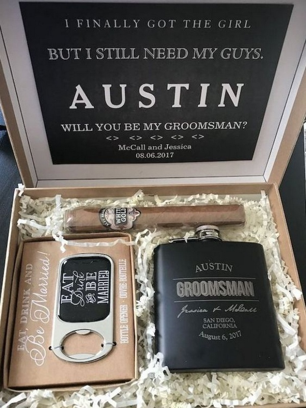 custom groomsmen gift ideas