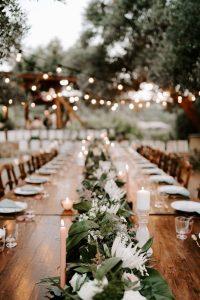 elegant destination wedding reception ideas with lights