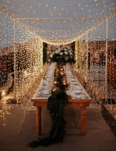 fairy lights for outdoor wedding reception ideas