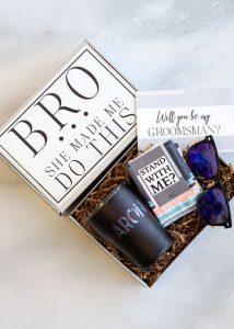 groomsmen proposal gift box
