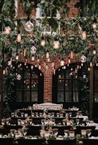 industrial wedding reception idea with lights