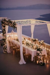 intimate beach wedding reception ideas