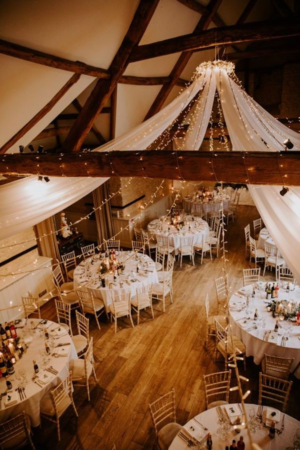 rustic chic barn wedding reception lighting ideas