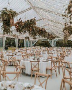 tented wedding reception lighting ideas