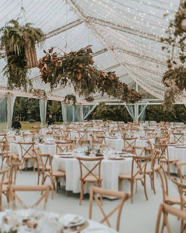 tented wedding reception lighting ideas