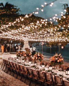 wedding lighting ideas for beach wedding
