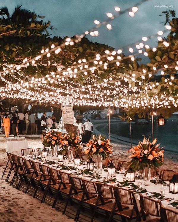 wedding lighting ideas for beach wedding