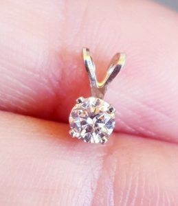 0.25Ct 0.35Ct Genuine Natural Champagne Diamond I1 C3 C4 Solid 14K White Gold Pendant Necklace Jewelry Solitaire Wedding Engagement Cocktail
