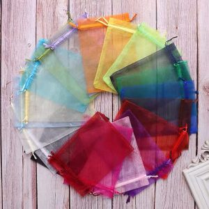 100 Organza Bags Party Wedding Favor Gift Birthday Baby Shower Sweets Bar Buffet Handmade Products Jewelry Packing