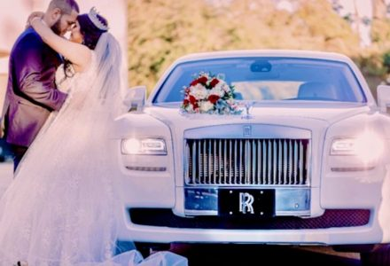 Bride and a Limo