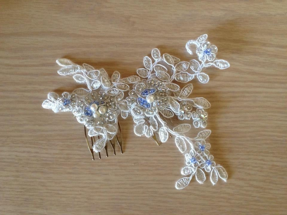 Lace Bridal Hairpiece - Hair Accessories, Accessories Wedding Headpiece, Comb, Beaded Nara