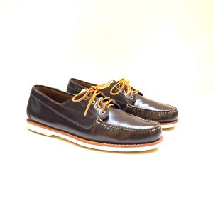 Mark Mcnairy For G.h. Bass Men's Brown Leather Deck Shoes With Original Box
