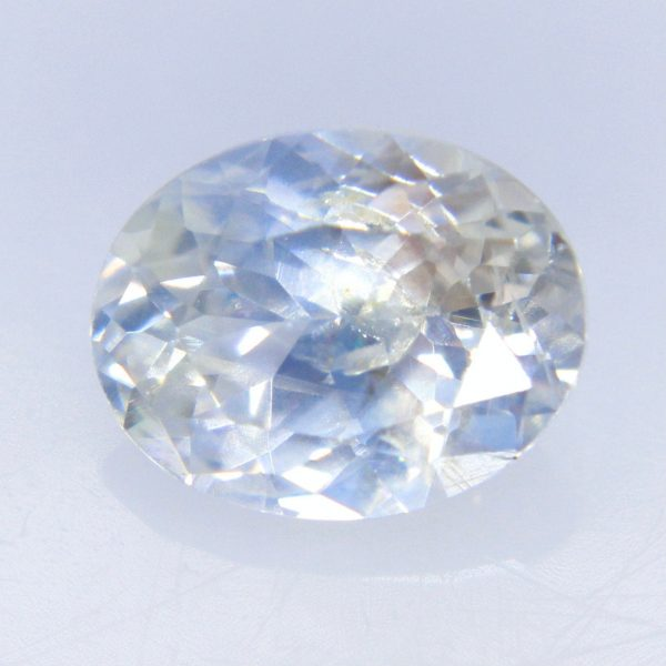 Natural Pale Blue White Sapphire | Oval Cut 5.80x4.56 Mm 0.60 Carat Engagement Rings Wedding Jewellery Pendants