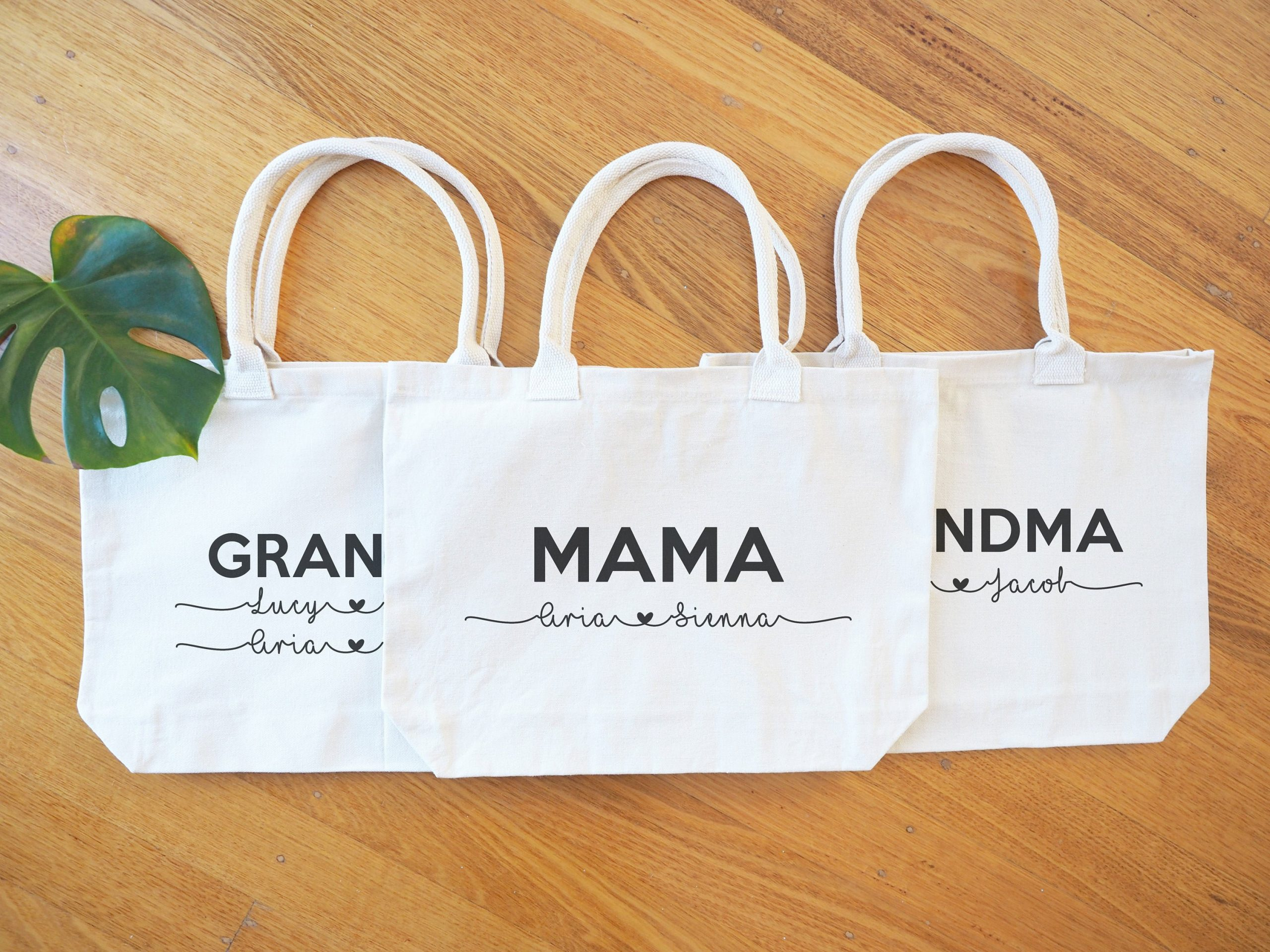 Purchase Three Premium Tote Bags & Save Plus Free Shipping Australia - Personalised Cotton For Weddings, Parties, Teachers, Birthday