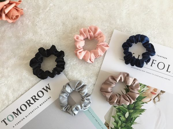 Pure Color Scrunchies, Bridesmaid Gift, Hair Scarf, Wedding Part, Hair Ties, Hair Elastic, Hair Accessories, Mothers Day Gift