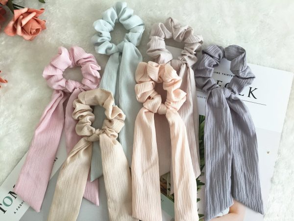 Pure Color Scrunchies, Bridesmaid Gift, Hair Scarf, Wedding Part, Hair Ties, Hair Elastic, Hair Accessories, Mothers Day Gift, Gift For Her