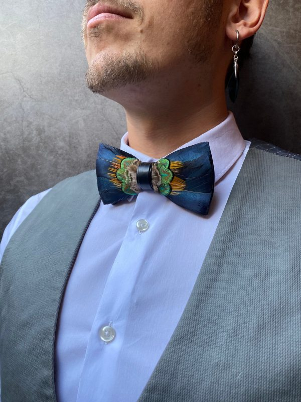 Unique Pre Tied Bow Tie, Real Feathers Men Bowtie, Suit Add On, Classy Wedding Accessories, Ushers Best Man & Groomsmen Gift