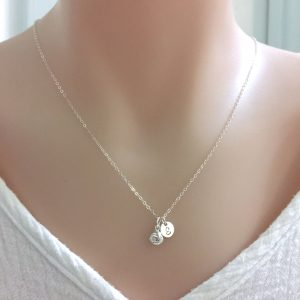 sterling Silver Tie The Knot Necklace, Bridesmaid Wedding Jewelry, Bridal Gift, Maid Of Honor Shower Gift