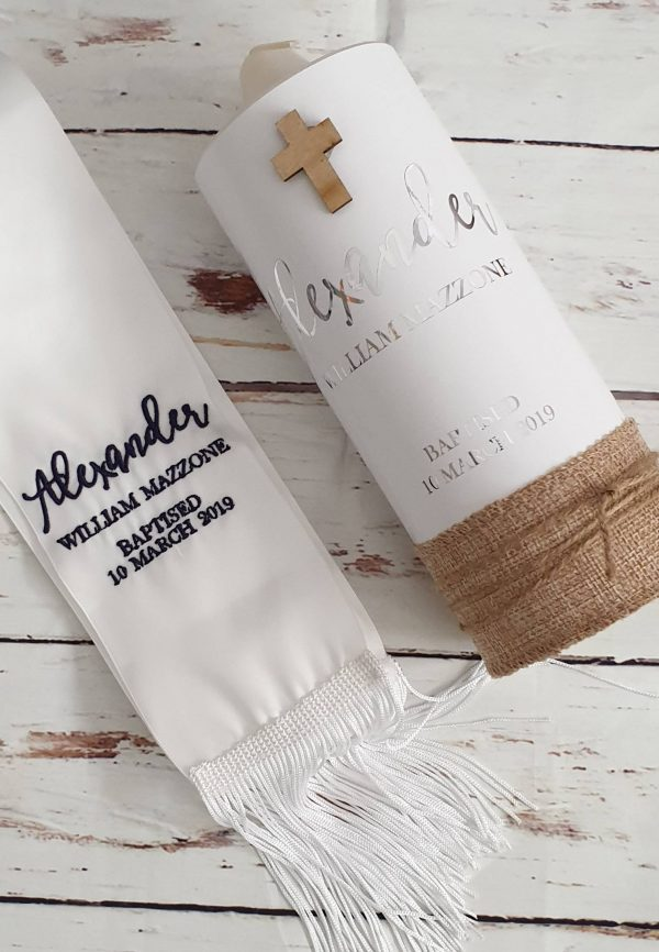 Baptism Candle, Christening Personalised Candle