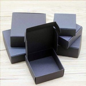 100 Black Paper Favor Boxes Wedding Birthday Anniversary Engagement Party Favour Christmas Gift Candy Sweet Cookie Guest