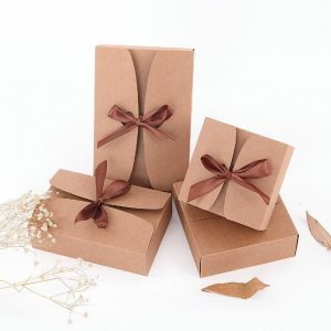 100 Kraft Paper Easter Gift Box | Wedding Party Event Baby Shower Favor Cake Donut Give Away Bakery Shop Packaging
