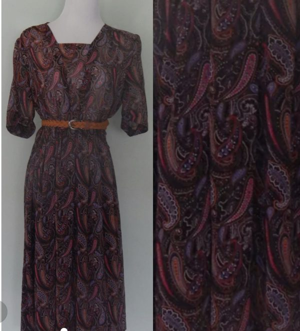 1960's Psychedelic Day Dress Size 12