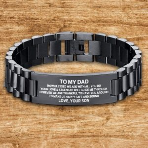 2021 Father's Day Dad Bracelet Gift From Son To Dad Men Wristband For Father Birthday Wedding Anniversary Christmas Gifts