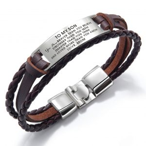2021 Mom To Son Wristband Bracelet Gift You Are Braver Love Son For Xmas Birthday School College Graduation Wedding Christmas Gifts
