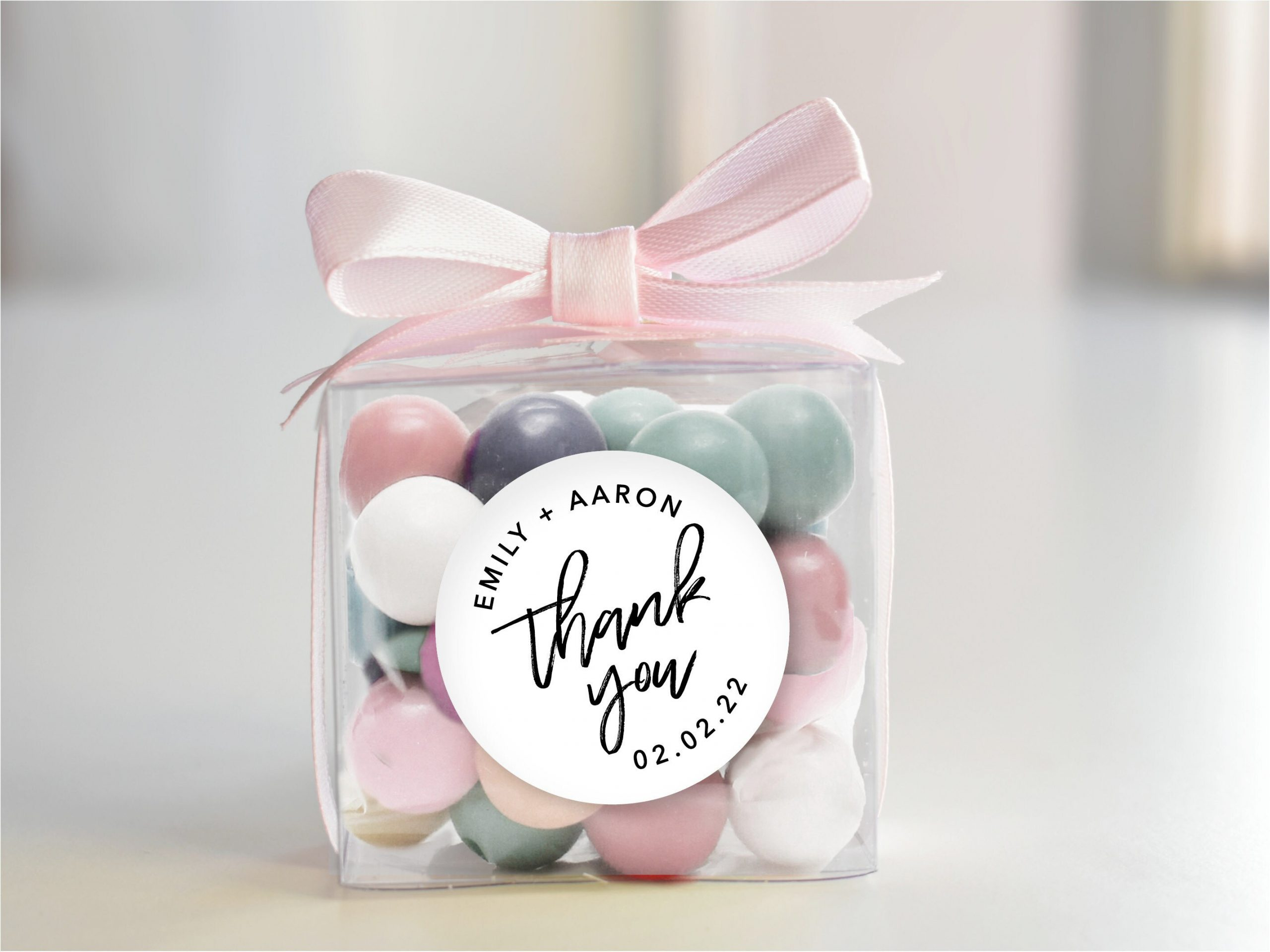 30 Clear Boxes For Your Wedding, Party Or Event With Message | Love Is Sweet Calligraphy Diy Favour Kit Macaron Box Modern Wedding