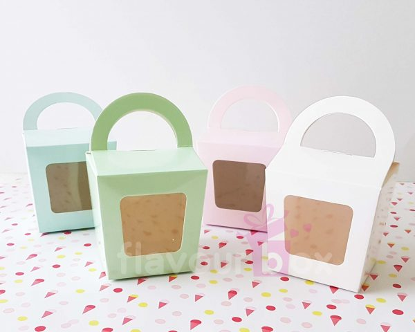 40x Single Cupcake Boxes 4 Colours - Cookie Chocolate Macarons Box Wedding Cake Bomboniere Baby Shower Favour