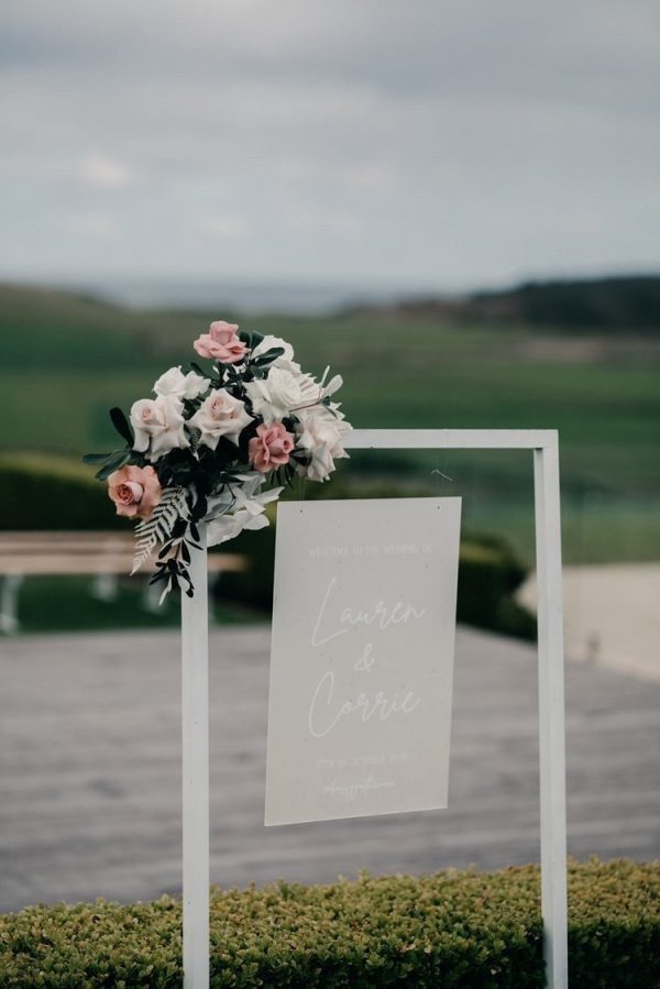 Acrylic Wedding Welcome Sign | Event Frosted