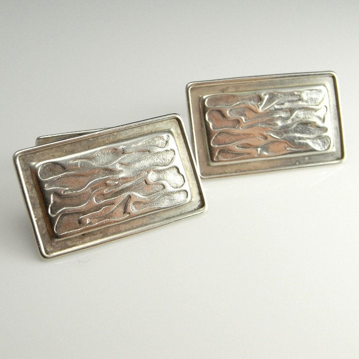 Antique Silver Mens Wedding Groom Art Deco Cuff Links Cufflinks 1920S 20S Accessories Gifts For Him Husband Anniversary