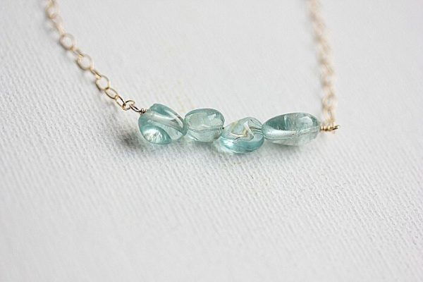 Apatite Bracelet, Gold Filled Chain, Sterling Silver Chain, Delicate Bracelet, Simple Bracelet, Gift For Her, Bridesmaid Gift, Wedding Jewelry