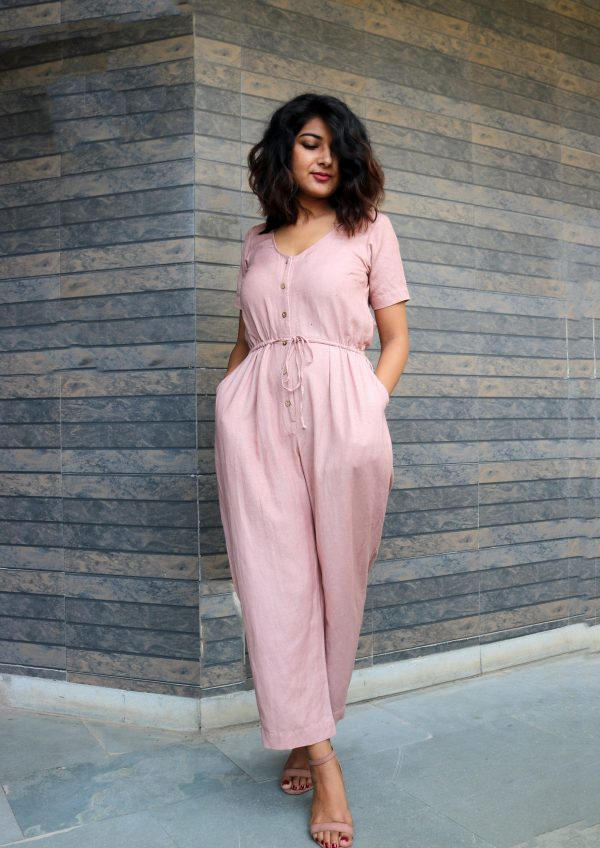 Beige Baggy Jumpsuit For Women, Linen Jumpsuit, Made To Order, Custom Made, Plus Size