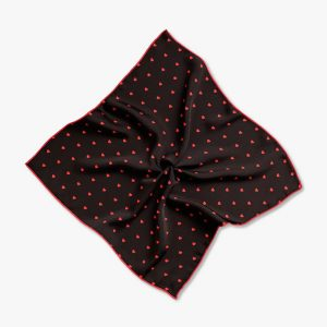 Best Man Gift, Suit Handkerchief, Red Heart Pocket Square, Groom Wedding Personalized Gift