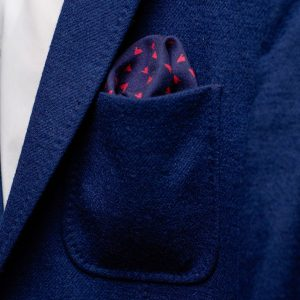 Blue Pocket Square, Suit Handkerchief, Wedding Personalized Gift, Navy Men Gift