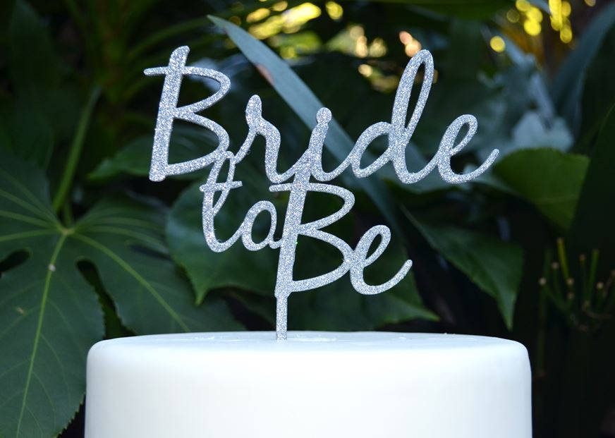 Bride To Be Wedding Engagement Cake Topper - & Groom Bridal Shower Kitchen Tea Party