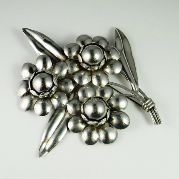 Brooch Bouquet Art Deco Jewelry Gatsby Antique Flower Daisy Pin Large Brooches