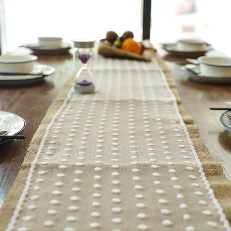 Burlap Hessian Lace Table Runners | Engagement Wedding Banquet Ceremony Birthday Anniversary Vintage Party Xmas Dining Home Decoration