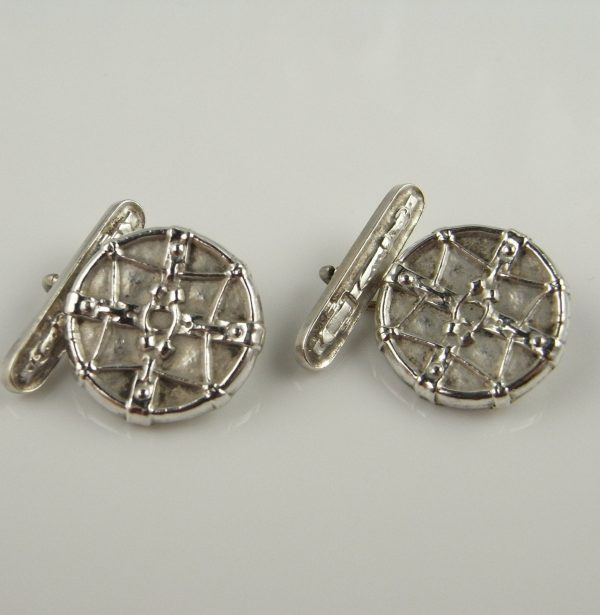 Celtic Knot Jewelry Bridal Wedding Accessories Sterling Silver 925 Cuff Links Vintage Unique Romantic Valentines Cufflinks For Him