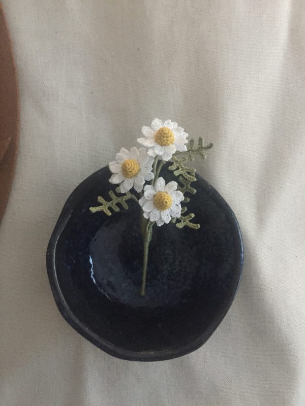 Chamomile Flower Brooch/ Handmade Meaning Flower/ Gift For Mom/ Wedding Gift/ Wedding Pins/ Flower Accessories