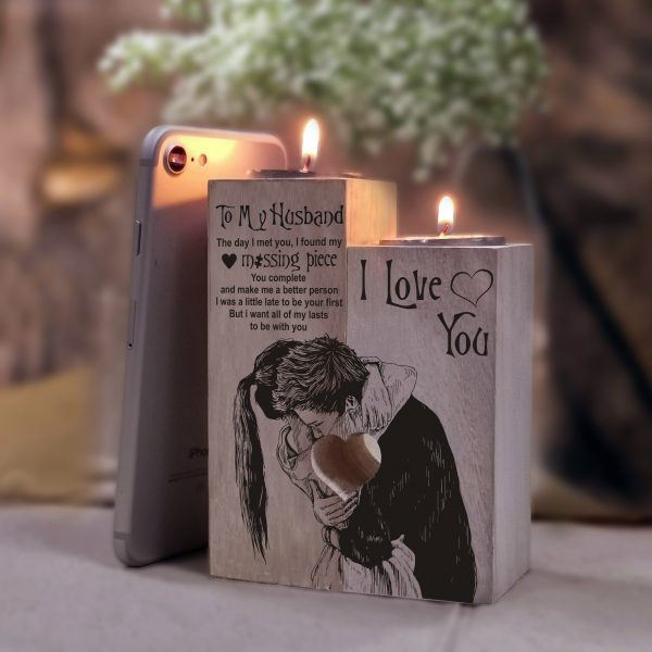 Christmas Gift For Husband Candle Holder Wife To Husband Father's Day Birthday Wedding Anniversary Valentine