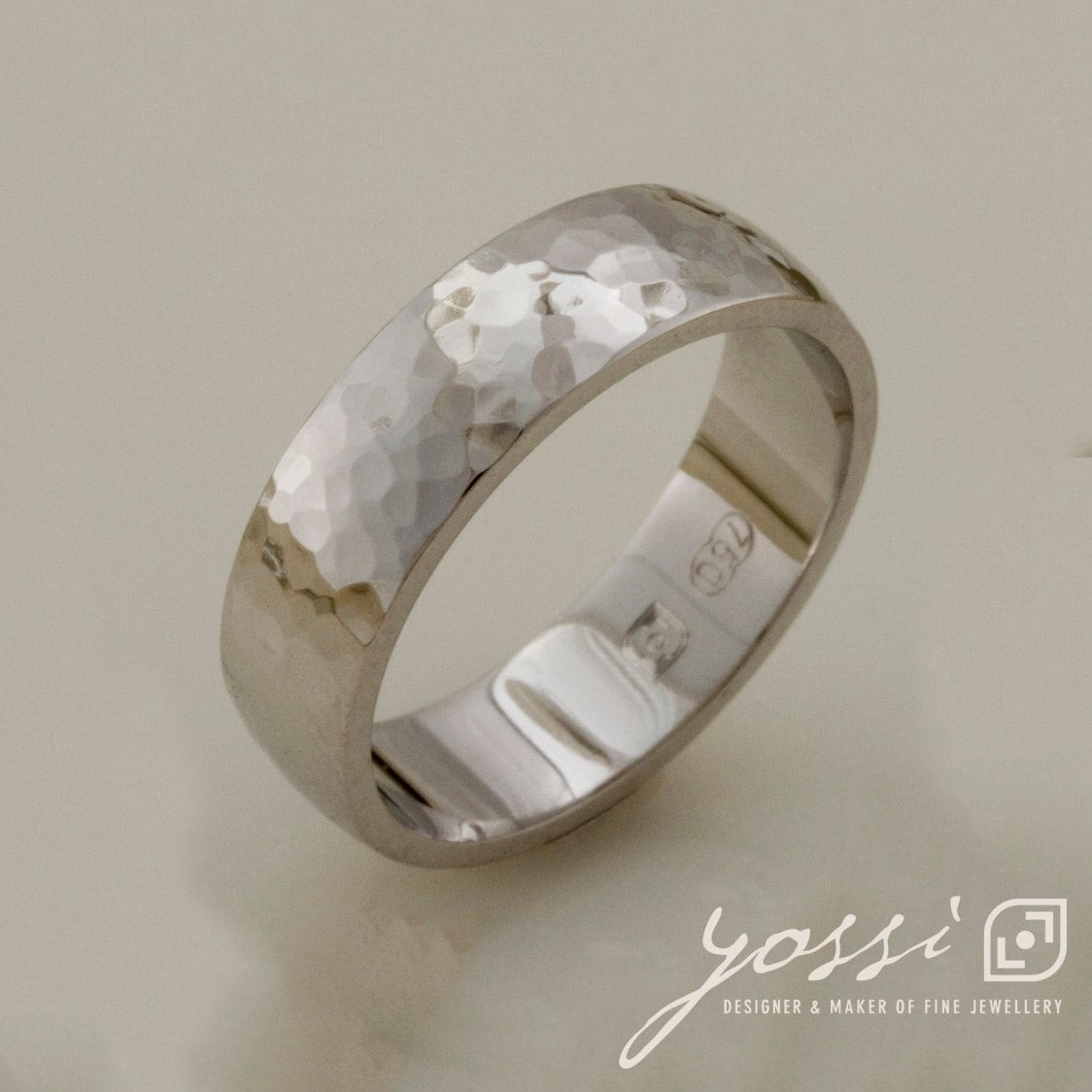 Classic Unity Hammered Finish Ring | Wedding Band Handmade Made To Order