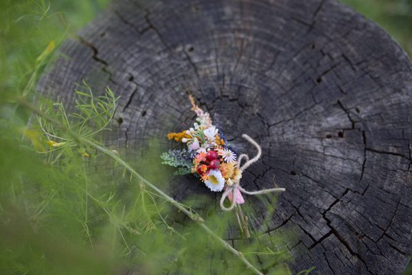 Colorful Corsage For Groom Romantic Boho Boutonniere Wedding Buttonhole Meadowy Style Corsage From Wild Flowers Accessories