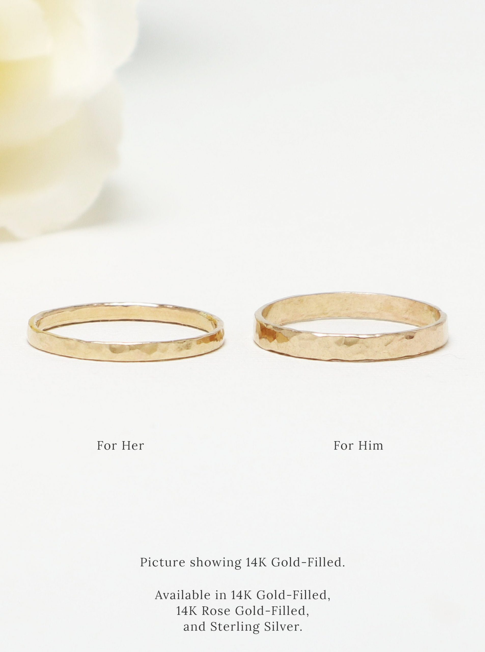 Couple Ring Set, Silver Ring, His Her Promise For Couple, Matching Wedding Band, Gift   Eternal Rings