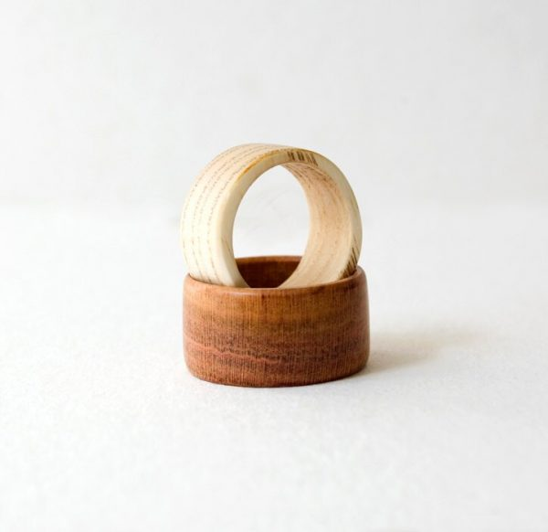 Couples Rings Set, Wedding Bands, Wood Ring