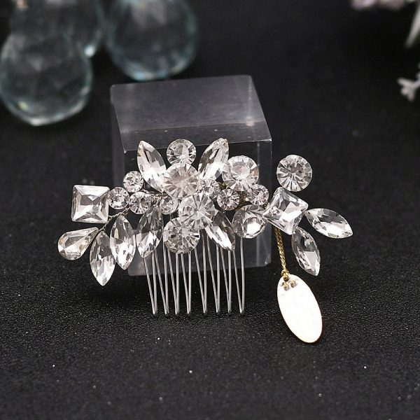 Crystal & Pearl Bridal Comb, Hair Accessories, Crystal Flower Wedding Accessories