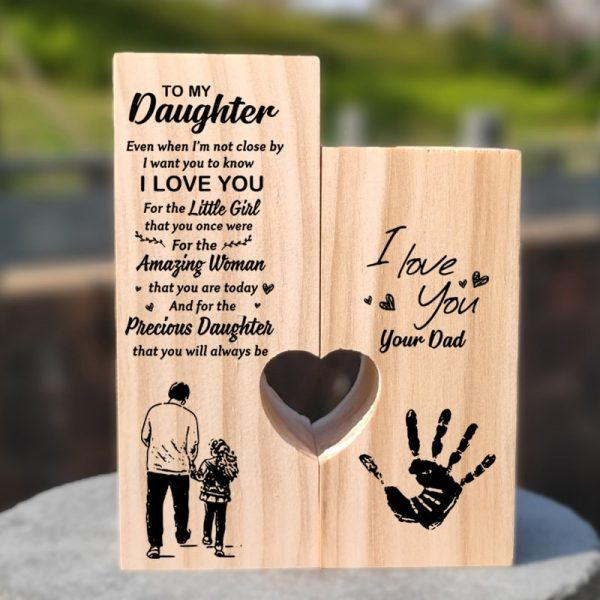 Dad To Daughter Candle Holder Pair For Christmas Birthday Wedding Xmas School College Graduation Gift